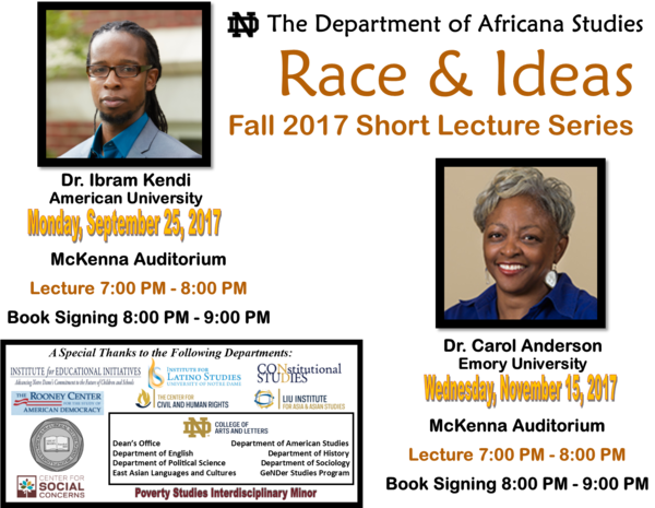 Afst Race Ideas Fall 2017 Short Lecture Series