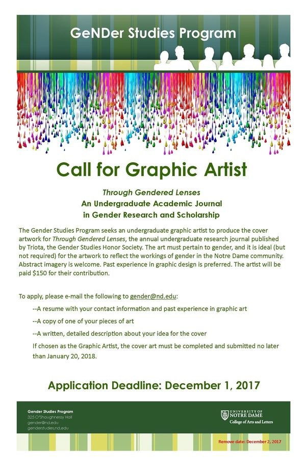 Call For Graphic Artist Poster 2018