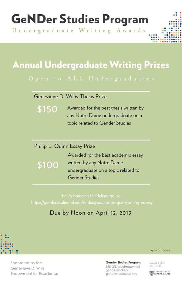 Writing Awards Undergraduate Edited