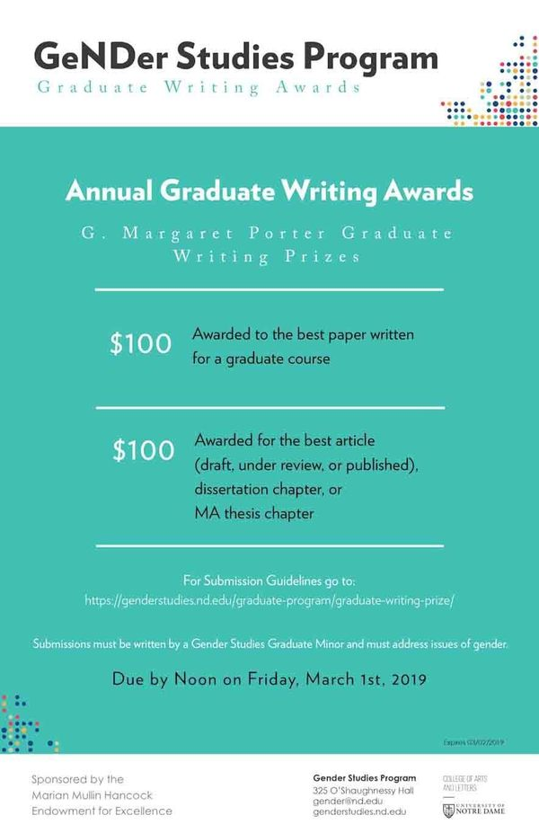 Writing Award Graduate Edited