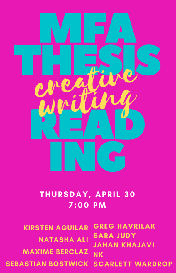 Mfa Thesis Reading 2020 1
